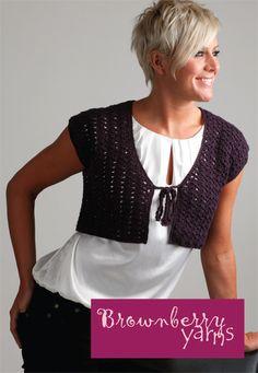 Crochet Bolero - free crochet pattern from Letsknit. Dk yarn, 4.5mm hook. Pdf download link.
