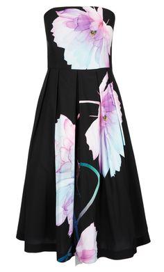 City Chic - PRETTY BLOOM DRESS - Women's Plus Size Fashion
