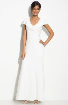 Js Collections Lace Trim Mermaid Gown @Lyst
