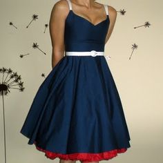 blue dress with red underneath? Are you still thinking about doing this with your dress?