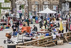 Flea market near Ostbahnhof - Berliners do love a good weekend flea market, and so do I!