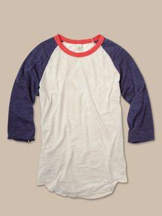Women's Long Sleeve | USA Big League Baseball Tee | Alternative Apparel