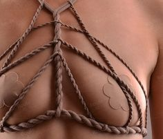 Stretch Shibari Top Rope Harness Cupless Top Cage Bra by roufe Cage, Bra Opening, Rope Art, Sexy Stockings, Modern Outfits, Bra Lingerie, Metallica, Stretches, Handmade