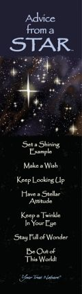 Advice from a Star Laminated Bookmarkhttps://i.pinimg.com/236x/b5/55/ba/b555baf00a14e51b1f9b610f1d4b3483.jpg