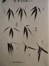 Cette image met de l'avant d'autres méthodes pour faire des feuilles fidèles au style chinoise et en respectant les «conventions» qui régissent cet art.