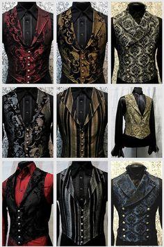 men's vests http://jadebakerstreet.tumblr.com/tagged/steampunk