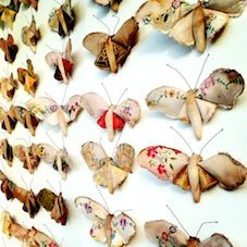 A flight of Butterflies have landed in the Selvedge shop window. Created by the wonderful Mr Finch. We are are so thrilled that he will be running a work shop at our Anthropologie Gallery Pop-Up shop open evening, rsvp for the free workshop at selvedge@anthropologie.eu.14th Feb Kings Road London, SW3 4PW.