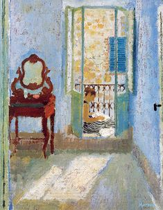 The Blue Bedroom, 1954 by Alberto Morrocco on Curiator, the world's biggest collaborative art collection. Art And Illustration, Illustrations, Paintings I Love, Your Paintings, Bedroom Art, Blue Bedroom, Glasgow Museum, Collaborative Art, Italian Artist