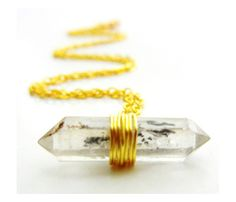 Protection Necklace by Release Me Creations - double terminated Tibetan Quartz Crystal