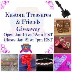 Giveaway at Kustom Treasures LLC https://www.facebook.com/kustomtreasuresboutique?sk=app_228910107186452&app_data
