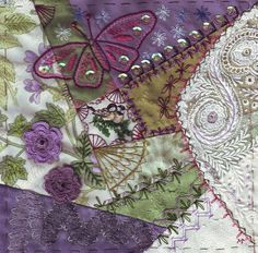 I ❤ crazy quilting & embroidery . . . CQAW for the november swap. This is for Ati. ~By Margreet from Holland