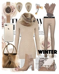 """""""Beiged"""" by trescrwndgg on Polyvore featuring URiBE, Anaconda, Drome, Chloé, Paco Rabanne, Burberry, Skagen and Gizelle Renee"""