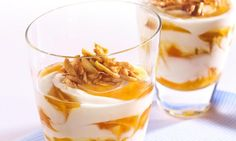 rezept-Schnelles Quark-Pfirsich-Dessert