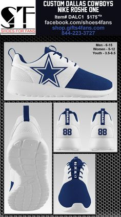 Custom Dallas Cowboys Dez Bryant Nike Roshe One Shoes 5c0bd3bf6