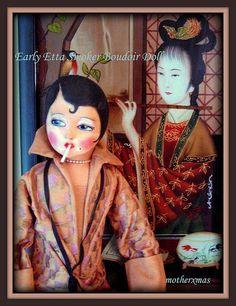 Asian Etta Smoker boudoir bed doll