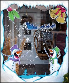 Commercial Holiday Window Painting | ... in murals, illustration and window painting | window-painting