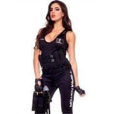 Sexy Womens Terminator Assault Team Cosplay Halloween Costume