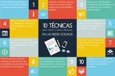 Alfredo Vela nos muestra una infografía con 10 técnicas para crear Marca Personal en Redes Sociales.