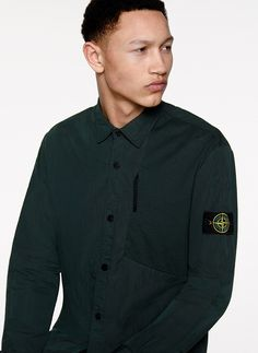 6515 Stone Island_ AW Over shirt in nylon cotton canvas… Stone Island Shirt, Stone Island Junior, Stone Island Shadow Project, Island Man, Cotton Canvas, Long Sleeve Shirts, Mens Tops, Adventurer, Clothes