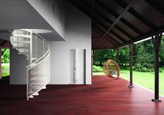 Fontanot | TECHNE SKIN  Spiral Staircase DRESSED FOR ALL OCCASIONS