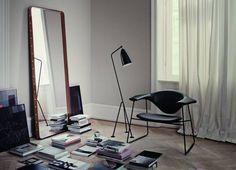 www.QVEST.de | Gubi Adnet Spiegel eckig by Jaques Adnet #Gubi #Interior #Wohndesign #Spiegel
