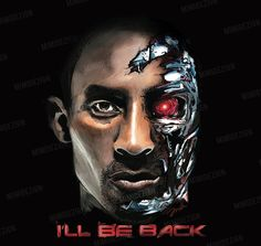 "NBA Los Angeles Lakers Kobe Bryant & Terminator Drawing ""I'll Be Back"" - BLACK on Etsy, $40.00 drawing art artsy gift great awesome new digital canvas wall art design for your room present amazing cool best etsy lakers la Los Angeles mamba"