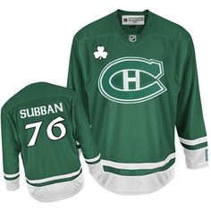 Buy 100% official Reebok P.K Subban Men s Authentic St Patty s Day Green  Jersey NHL Montreal f12da22fa