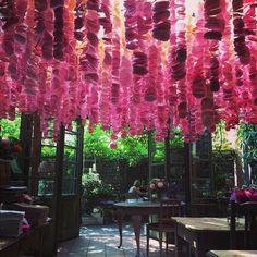 LOVE !!! #goodmorning #beautifull #new #handmade #decoration #zielonaweranda #amazing #ambiance #interior #design #weranda #poznan #restaurant #love thanks to @pracownialadnie and All our people who made this #oneofakind #deco !! ;-)))  (w: Zielona Weranda caffe&ristorante)