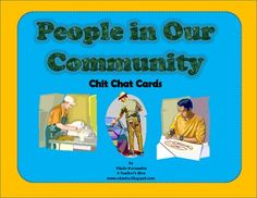 People in Our Community Chit Chat Cards-For Social Studies