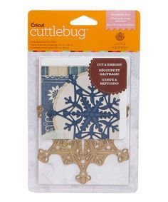 "Anna Griffin CUT & EMBOSS DIE Embossing ""Snowflake Solo"" Snowflakes A2 Shape Winter Christmas Cuttlebug cricut paper craft crafts sizzix"