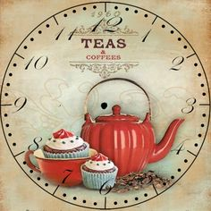 Coffee and Tea clock