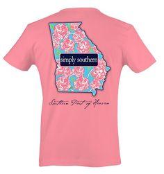 d1b55c8b Simply Southern Georgia Heaven T-Shirt Simply Southern T Shirts, Preppy  Southern, Georgia
