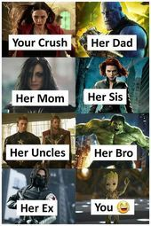 Sarkasmus – Sarkasmus – Related Marvel Memes, die niemals nicht witzig sindI History Memes That'll Make People Who Actually Studied Laugh Old stuff is fun. Marvel Jokes, Humour Avengers, Funny Marvel Memes, Dc Memes, Memes Humor, Marvel Avengers, Funny Humor, Hulk Memes, Ms Marvel