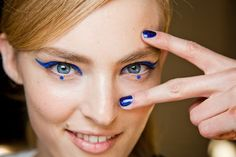 Anna Sui bold and blue