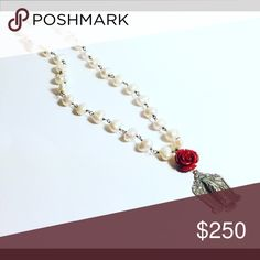 Virgen de Guadalupe Pearl Rosary Necklace Hand wire wrapped with Fresh Water Pearls ilaments Jewelry Necklaces