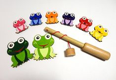 Fishing Toy Fishing Game Frogs Fishing Toy Montessori Toy for Baby Toy for Boy Toy for Girl Toddler gift Baby gift Sensory Toy Pretend Play #fishing #toy #fishingtoy #game #fishinggame #sensory #sensoryactivities #ecofriendly