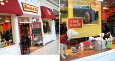 I like the sale sign and the wash tub in the display window Dog Grooming Business, Pet Grooming, Dog Daycare, Daycare Ideas, Dog Spa, Display Window, Wash Tubs, Dog Store, Dog Boutique