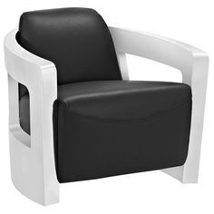 Modway Trip Leather Lounge Chair EEI-2069-BLK