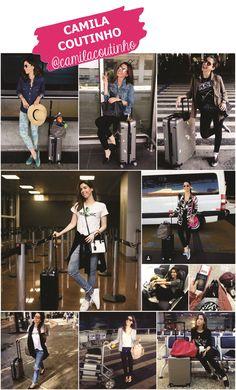 Looks de aeroporto de CAMILA COUTINHO #aerolook