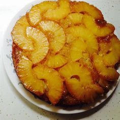 """This iconic American dessert looks like a simple, rustic fruit cobbler when it comes out of the oven, all browned and bubbling, but a few minutes later, when it's turned over and that gloriously … Pineapple Upside Down Cake, Pineapple Cake, Pineapple Desserts, Pineapple Recipes, Baking Recipes, Cake Recipes, Dessert Recipes, Frosting Recipes, Fruit Cobbler"