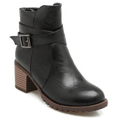 Cross Strap Chunky Heel Ankle Boots (421.360 IDR) ❤ liked on Polyvore featuring shoes, boots, ankle booties, bootie boots, short boots, chunky heel ankle boots, thick heel boots and chunky heel ankle booties