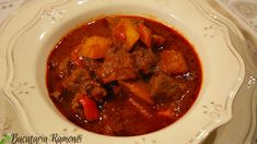 Carne, Beef, Dinner, Ethnic Recipes, Supe, Food, Drink, Red Peppers, Meat
