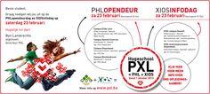 Info -en opendeurdagen in hogeschool PXL in Hasselt.