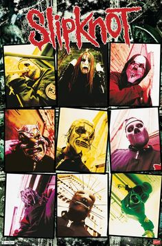 Rock Y Metal, Nu Metal, Poster Wall, Poster Prints, Slipknot Band, Grunge, Rock Band Posters, Vintage Concert Posters, Band Wallpapers
