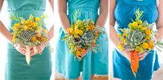 Love the wedding flowers from Bash, Please