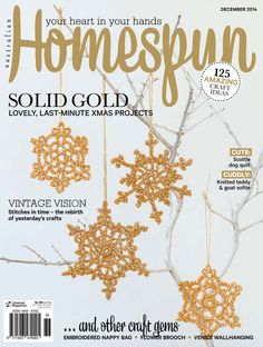 Australian Homespun magazine December 2014 issue. Digital magazines are available from Zinio, www.zinio.com (The print issue of this will be on sale Monday December 15).