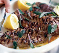 Barbecued pork with sage, lemon & prosciutto recipe - Recipes - BBC Good Food