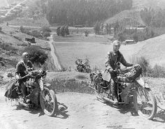 Another photo of Adeline and Augusta Van Buren....Pioneering women motorcyclists Augusta and Adeline Van Buren rode coast to coast on Indian Power Plus motorcycles in 1916, becoming the first women to ride motorized vehicles to the summit of Pikes Peak along the way.