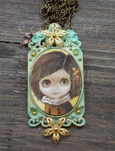 Taradoll OOAK Cameo necklace Blythe doll by Taradolls on Etsy, $75.00
