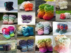 Crocodile Stitch Crochet Baby Booties MADE by DandoisLionDeLights